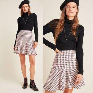 Anthro Maeve Bobbie Plaid Flounced Mini Skirt
